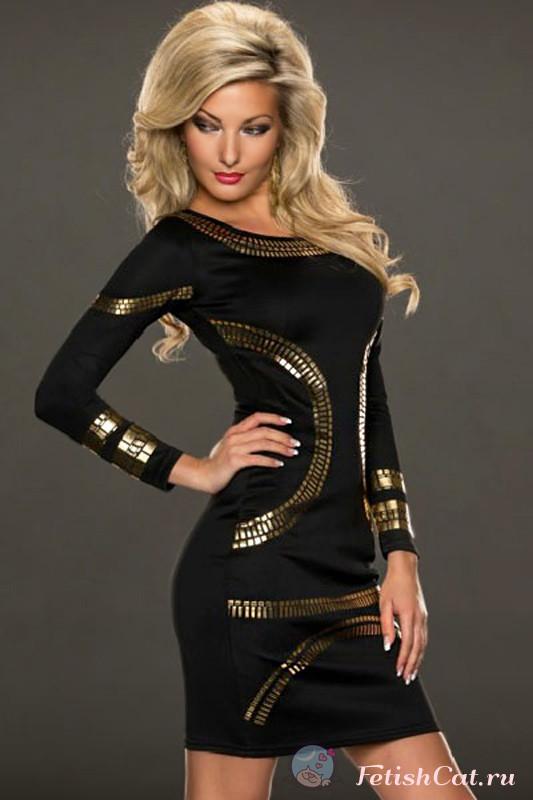 Золотисто Черное Платье С Доставкой